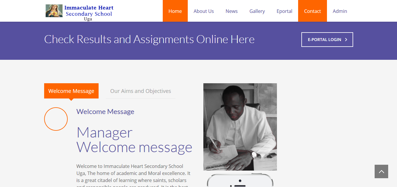 Immaculate Heart Secondary School  – Website and Software