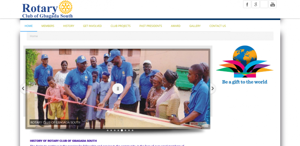 Rotary Club Website designer In Lagos