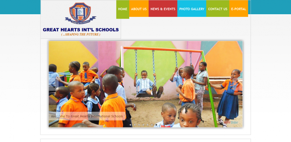 Great Heart Int'l School Website Designer